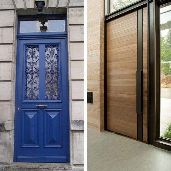 Que choisir entre une porte en bois et une porte en PVC ?